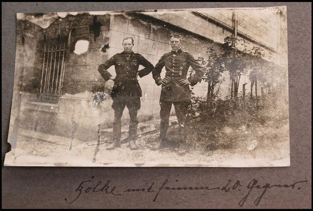 Oswald-Boelcke-and-Robert-Wilson - WW1