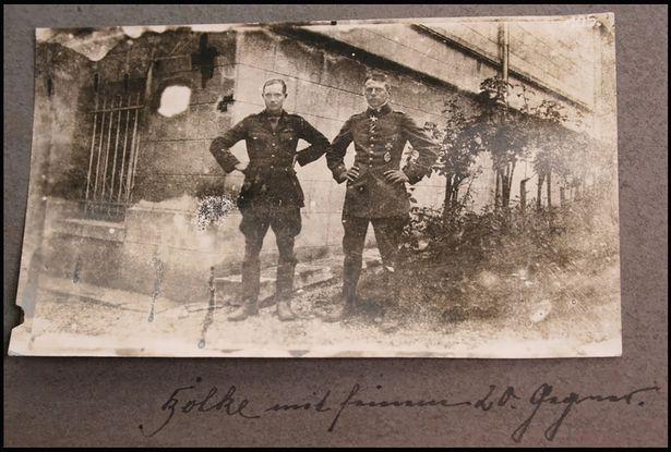 Oswald-Boelcke-and-Robert-Wilson - WW1